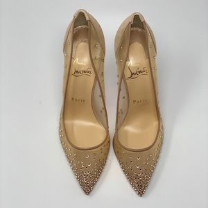 Christian Louboutin Shoes - Christian Louboutin follies strass 100 suede pump